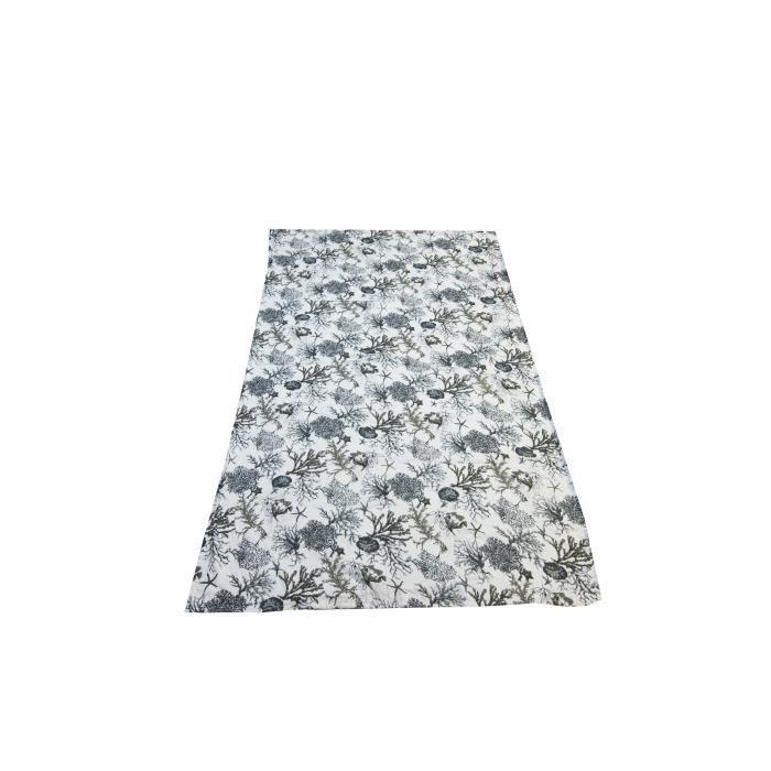 SOLEIL D'OCRE Fouta Corail - Coton doublé éponge - 100x200 cm - Gris