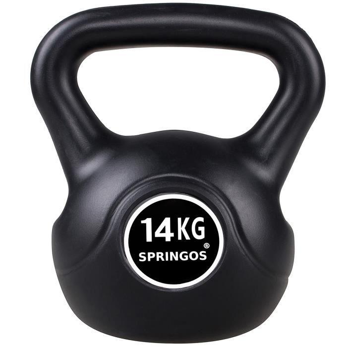 SPRINGOS® 14 kg Kettlebell haltère rond poids