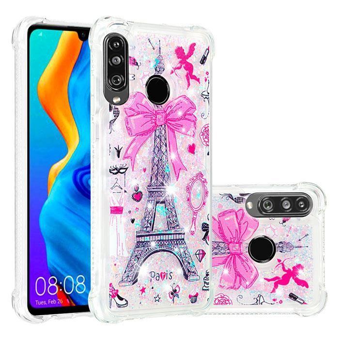 Coque Huawei P30 Lite, Transparente Silicone Paris