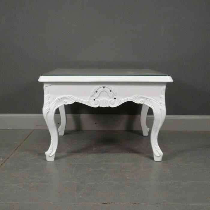 Table baroque basse blanche achat vente table a manger seule table baroqu - Table basse table a manger ...