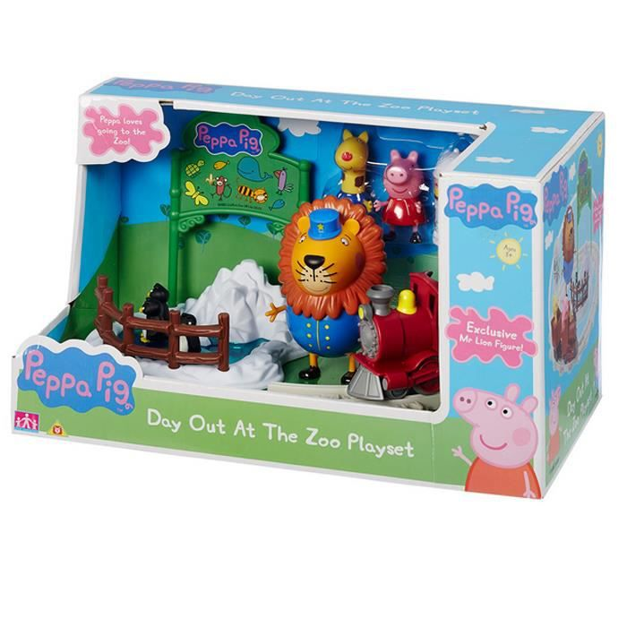 FIGURINE - PERSONNAGE Peppa Pig Day Out à l'ensemble de jeu Zoo
