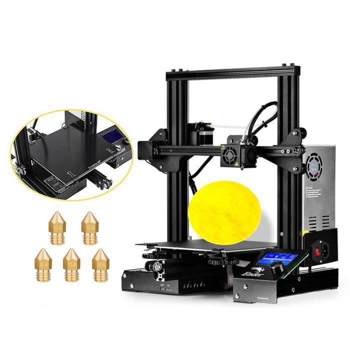 HICTOP Build Surface dimpression 3D pour lit chauffant Pro 8,6 x 8,6 pour imprimante 3D Creality Ender 3 220 mm x 220 mm paquet de 3