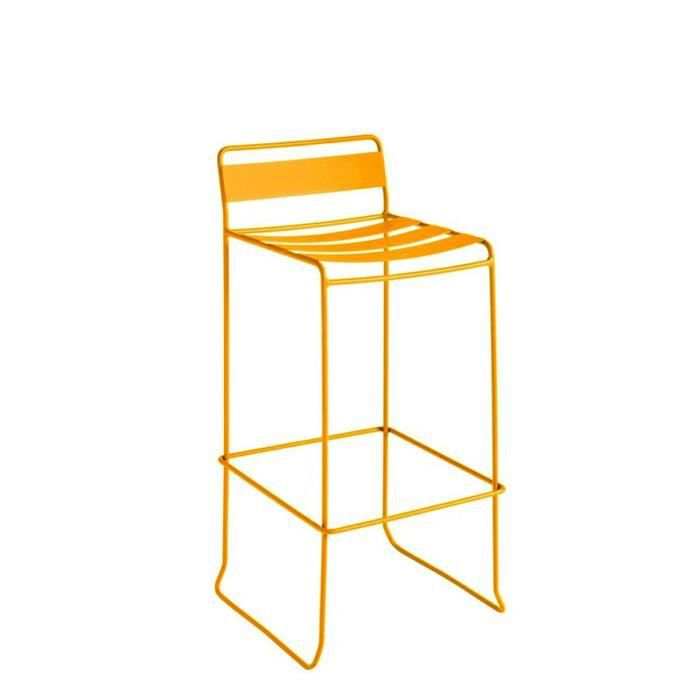 tabouret de bar design m tal pasadena couleur jaune achat vente fauteuil jardin tabouret de. Black Bedroom Furniture Sets. Home Design Ideas