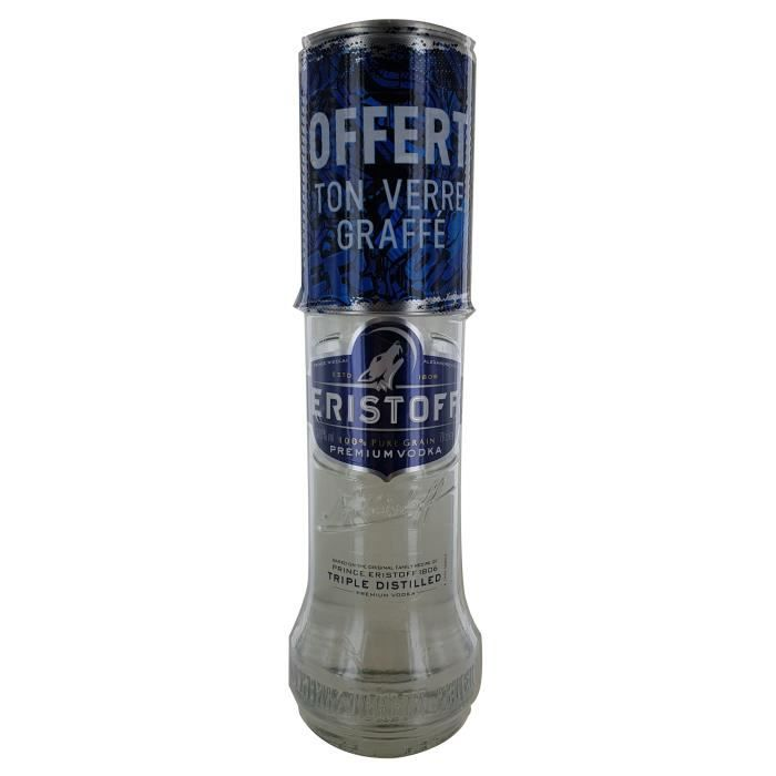 VODKA Eristoff 37,5% 70cl + Verre