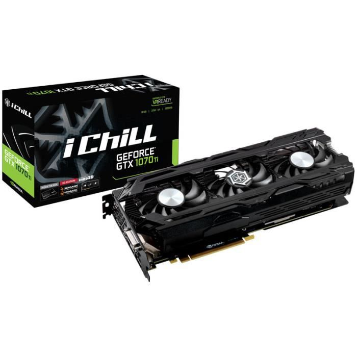 CARTE GRAPHIQUE INTERNE Carte graphique INNO3D GeForce GTX 1070 Ti iChill