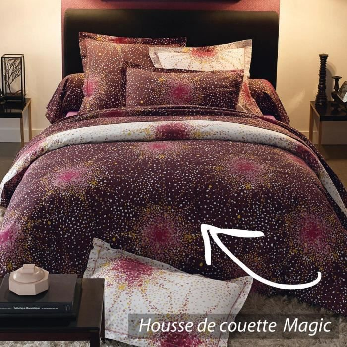 housse de couette 280x240 cm 100 coton magic achat. Black Bedroom Furniture Sets. Home Design Ideas