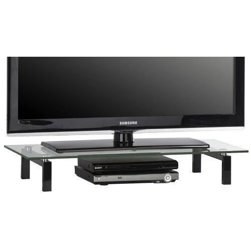 affordable maja meuble tvlecteur dvd en verre et mtal noir x x cm dimensions largeur cm hauteur. Black Bedroom Furniture Sets. Home Design Ideas
