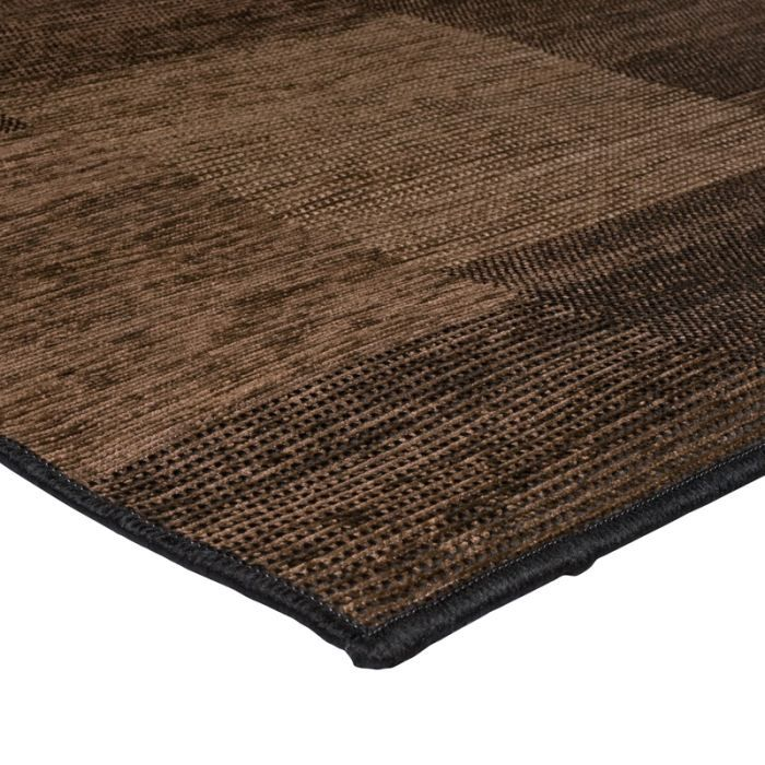 flores damiers tapis 120x170 marron polypropyl achat. Black Bedroom Furniture Sets. Home Design Ideas