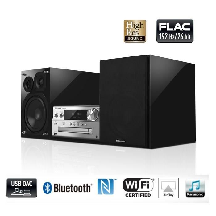 panasonic pmx100 micro cha ne hifi dlna bluetooth chaine hi fi prix pas cher soldes d t. Black Bedroom Furniture Sets. Home Design Ideas