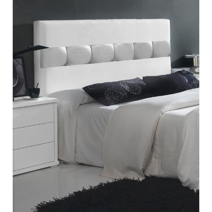 t te de lit tapiss pu pour lit de 140 cm en mdf 100 x 150 x 5 cm achat vente t te de lit. Black Bedroom Furniture Sets. Home Design Ideas