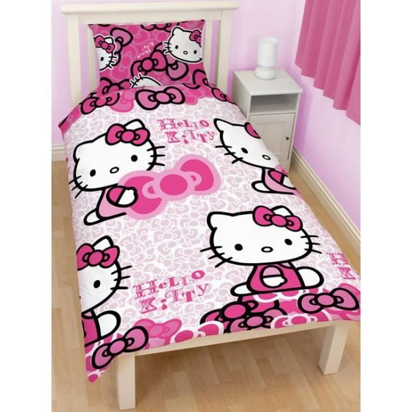 Housse de couette hello kitty noeuds achat vente - Housse de couette hello kitty x ...