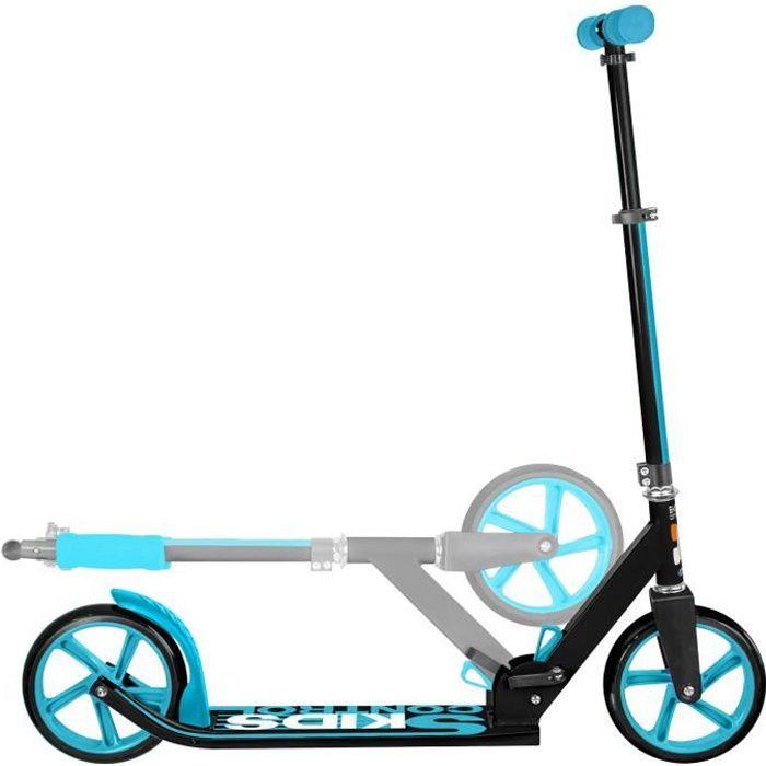 Capacit/é de Charge: 100kg Hauteur R/églable du Guidon Orange OUTAD Trottinette Pliable pour Adulte Enfant Scooter avec Grandes Roues de 200 mm et Bandouli/ère