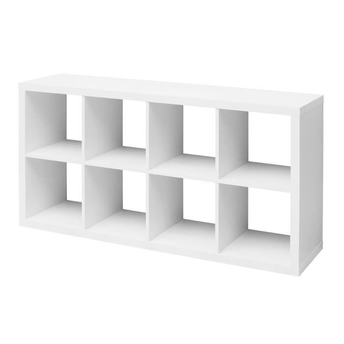 etag re cube szene 8 blanc achat vente meuble tag re. Black Bedroom Furniture Sets. Home Design Ideas