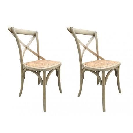 lot de 2 chaises panya bois et assise en rotin naturel. Black Bedroom Furniture Sets. Home Design Ideas