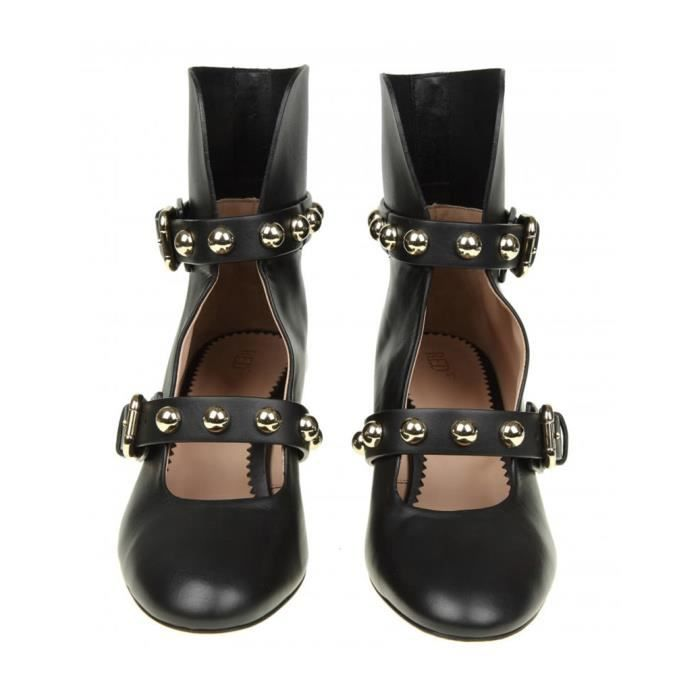 RED VALENTINO FEMME PQ2S0A230NOAYV NOIR CUIR BOTTINES