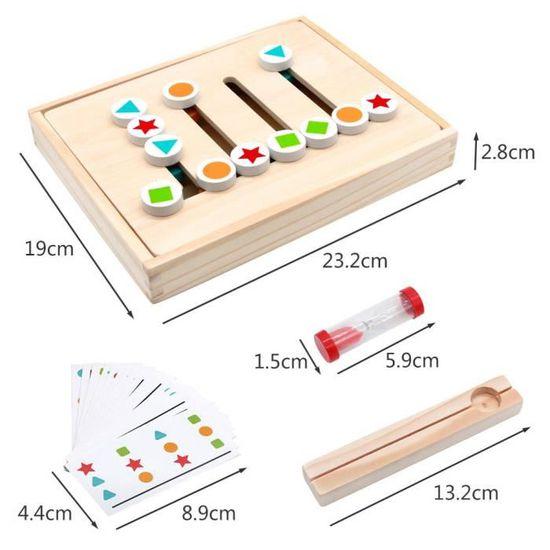 Jouets en Bois Puzzle de Tri Montessori avec Sablier Forme Couleur Jouets /Éducatifs pour Gar/çons Filles 3 4 5 Ans