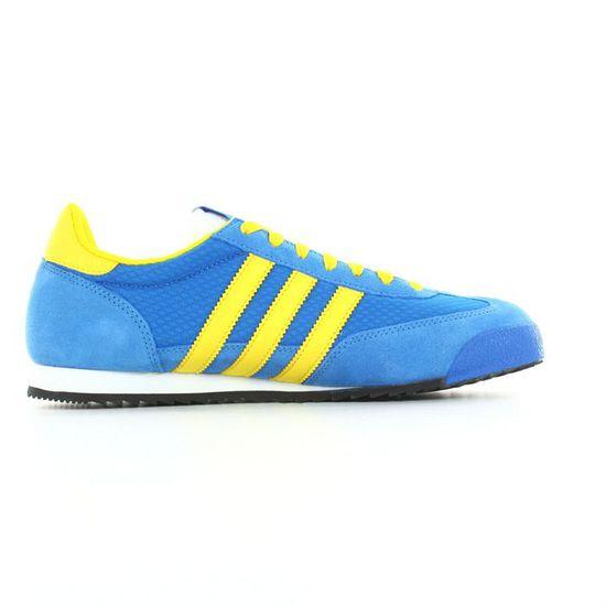 Adidas - Dragon Bleu, jaune, blanc et noir - Cdiscount Chaussures