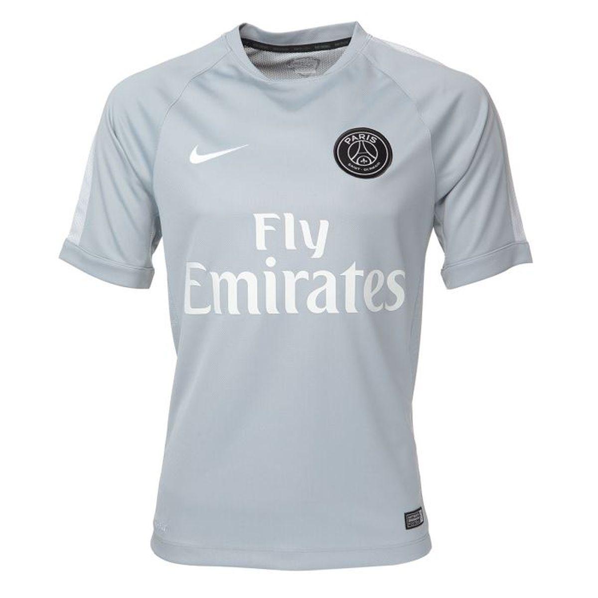 NIKE Maillot Football Entrainement PSG Homme Prix pas cher