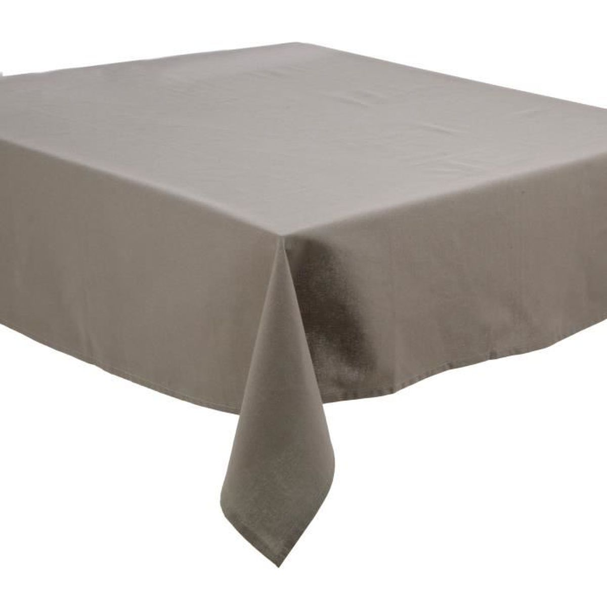 nappe anti taches coton 150x150 cm gris clair achat vente nappe de table cdiscount. Black Bedroom Furniture Sets. Home Design Ideas