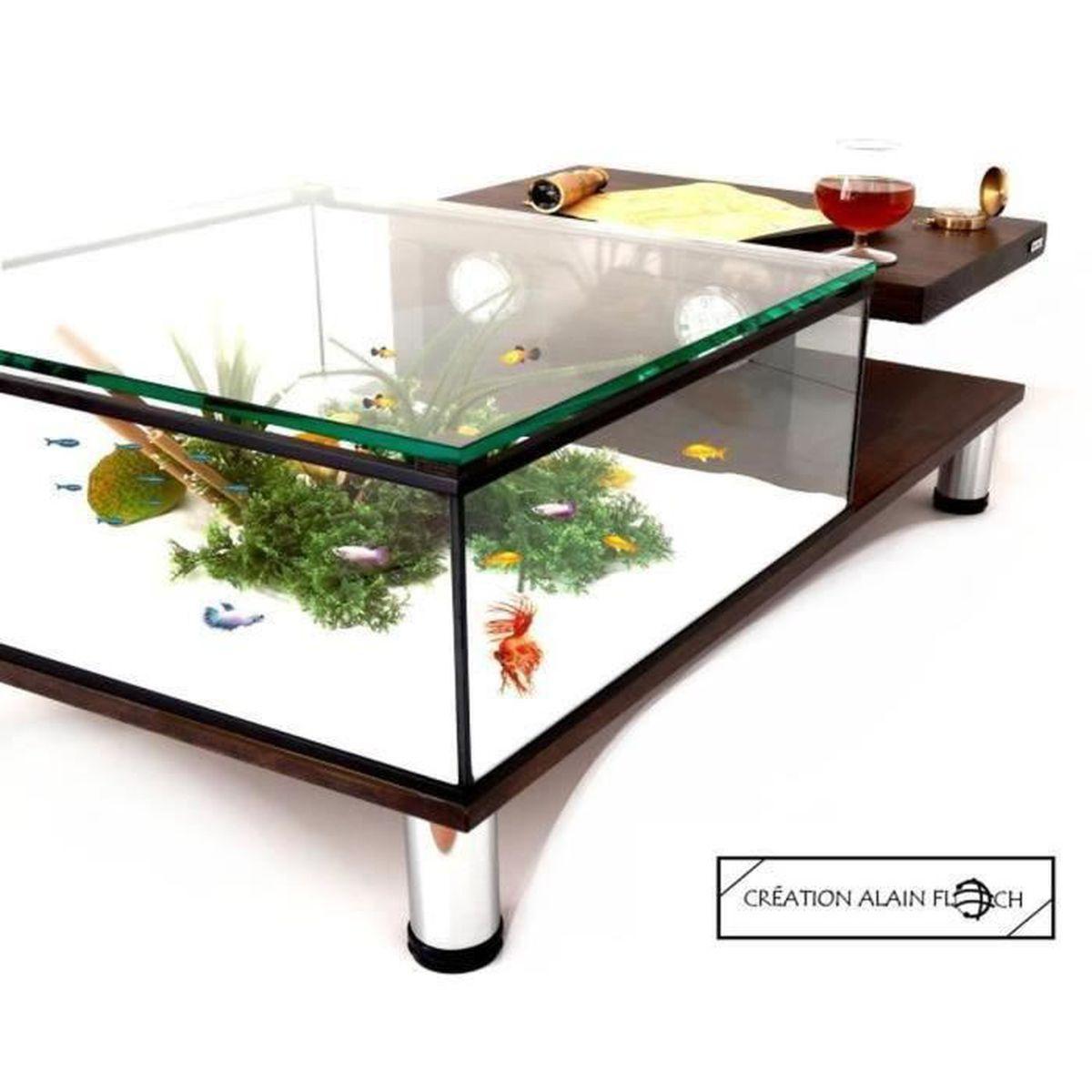 Table Basse Moderne Plateau Relevable Aquarium Terrarium 20 Led Design Unique Entretien Facile Filtre 200 L H Au Charbon Actif Achat Vente Table Basse Table Basse Annabelia Aquar