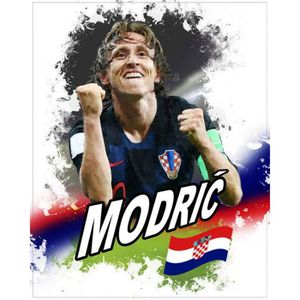 AFFICHE - POSTER Poster Reproduction Football - Luka Modric, Croati