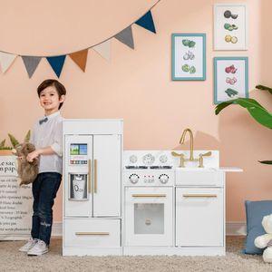 CUISINE CRÉATIVE - JEU CULINAIRE Grand jeu de cuisine blanc en bois pour enfant Tea