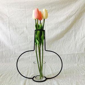 VASE - SOLIFLORE New Nordic Minimaliste Résumé Vase en fer noir bre