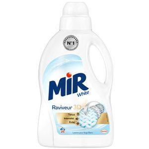 LESSIVE Mir White - Lessive + raviveur de couleur - 25 Lav