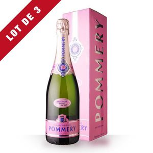 CHAMPAGNE 3X Pommery Brut Rosé 75cl - Etui - Champagne