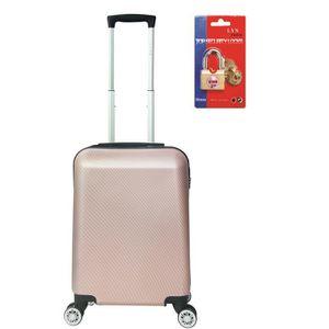 VALISE - BAGAGE LYS - Valise Cabine rigide polycarbonate Rose gold