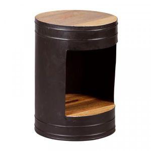 TABLE D'APPOINT Guéridon Métal/Bois - KONX - Bois - Bois / Métal -