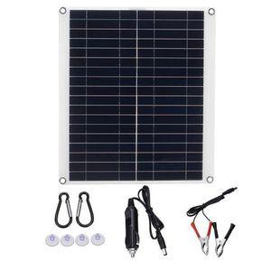 Kit photovoltaïque avec panneau solaire 50W 12V Batterie 24Ah AGM 4mmq câbles en