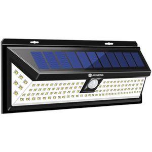 LAMPE DE JARDIN  AUGIENB 118 LED Lampe Solaire 1000 Lumens Applique