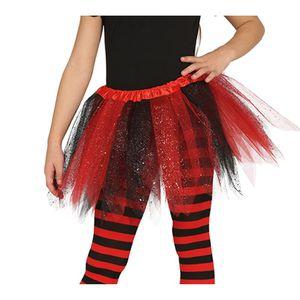 Tutu rouge femme Halloween Enterrement Vie Jeune Fille net robe fantaisie 80`s Jusqu/'à Taille 18