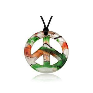 SAUTOIR ET COLLIER Pendentif Yin Yang Vert en Verre de Murano