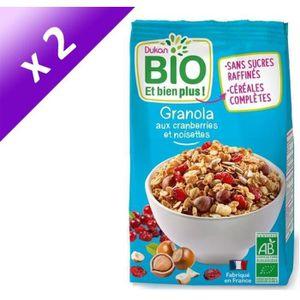 CÉRÉALES PETIT DEJ  Lot de 2 - Granola bio aux cranberries et noisette