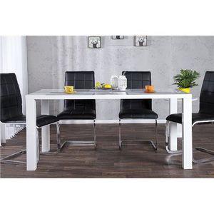 TABLE À MANGER COMPLÈTE Table à manger Souaiz blanc  160x80