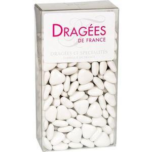 DRAGÉES DRAGEES DE France - Petits Cœurs Chocolat - Blanc