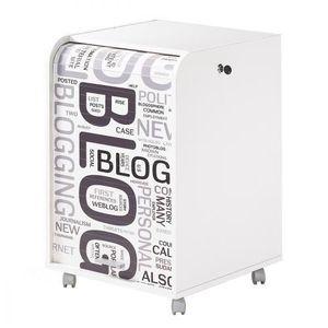 CAISSON DE BUREAU  Caisson de bureau 2 tiroirs Contemporain - Blanc i