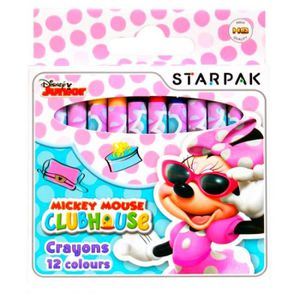 CRAYON DE COULEUR 12 crayon gras Minnie Mouse Disney GUIZMAX