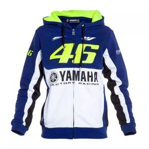 Sweat Adulte Sweat à Capuche Vélo MotoGP Valentino Rossi Photo Nouveau Sweat à capuche blanc