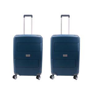 SET DE VALISES Lot de 2 valises taille moyenne 65 cm 4 roulettes