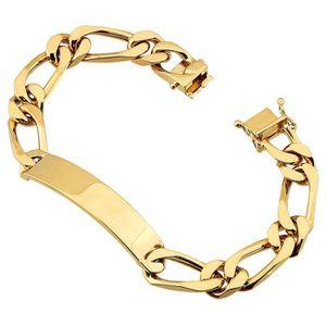 BRACELET - GOURMETTE Bracelet identité Maille alternée 20 cm