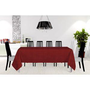 NAPPE DE TABLE SOLEIL D'OCRE Nappe - Galaxy - 150X250 cm - Rouge