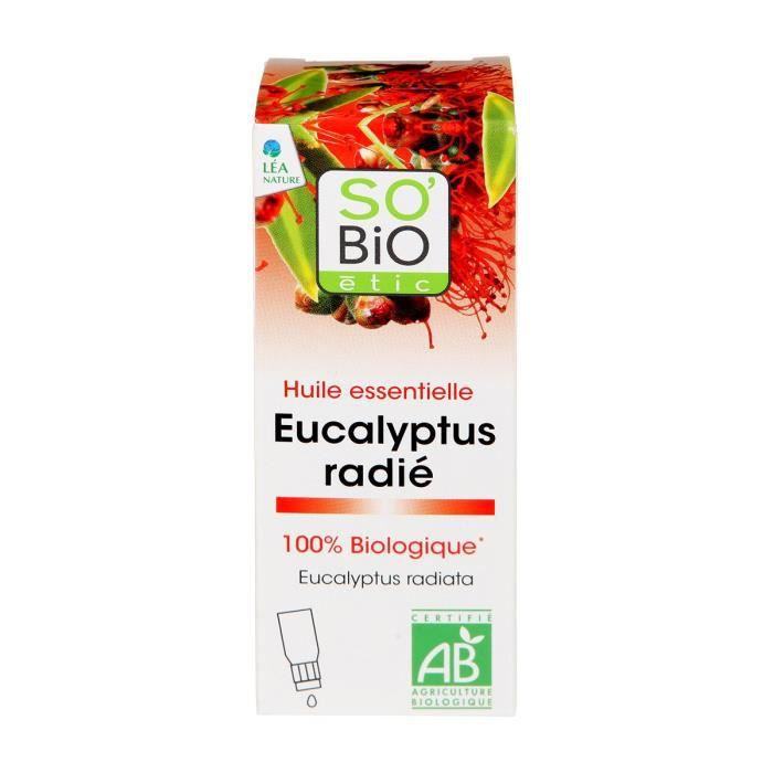 HUILE - LAIT MASSAGE SOBIO Huile essentielle eucalyptus radié - Bio - 1