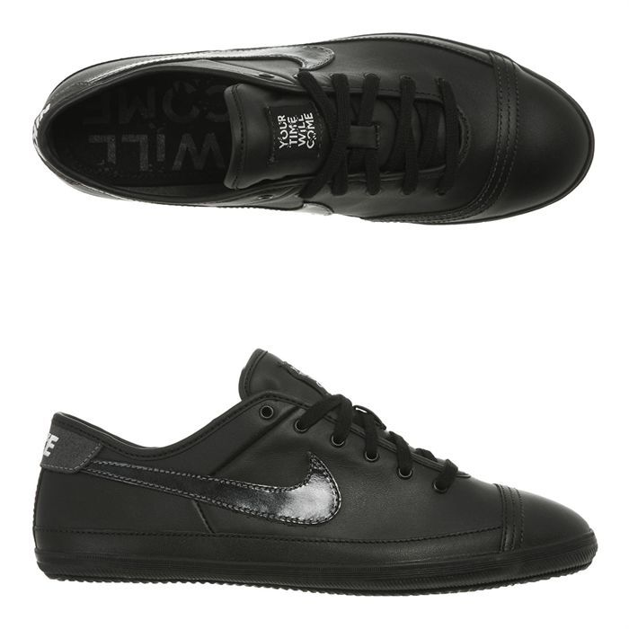 NIKE Baskets Cuir Flash Leather Homme Noir Achat Vente