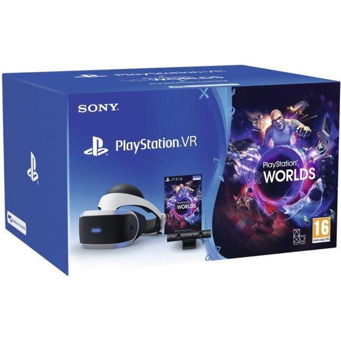 StarterPack PSVR MK4 : Casque PSVR + PlayStation Camera V2 + VR Worlds - PlayStation Officiel