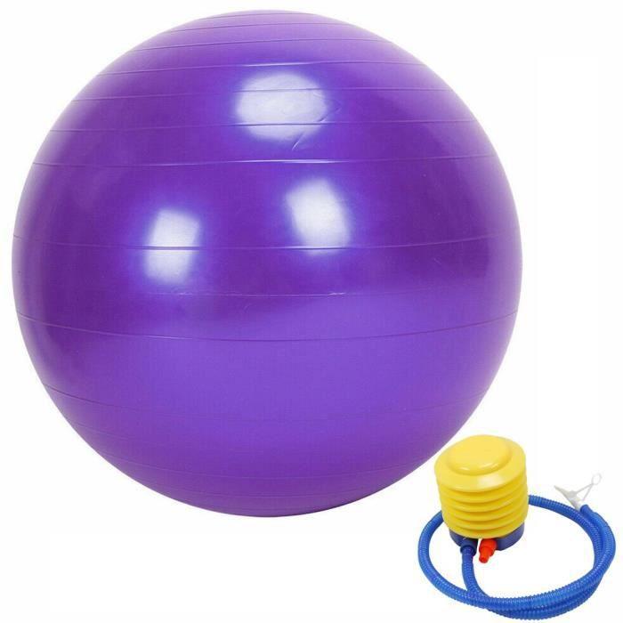 Exercice GYM Yoga Ball Fitness Grossesse Accouchement Anti Burst + Pompe 45cm g2505