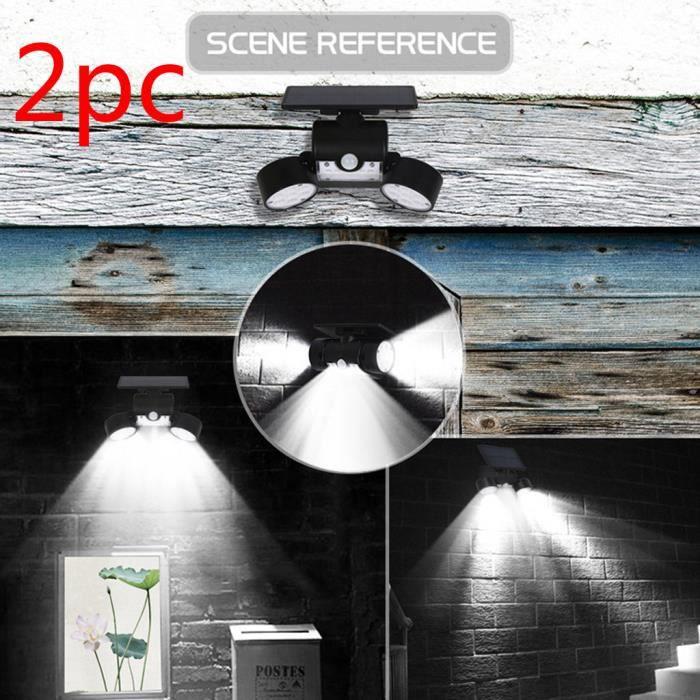 Double Head Spotlight 30 LED Waterproof 360 Degree Rotatable Solar Safety Light @gre698