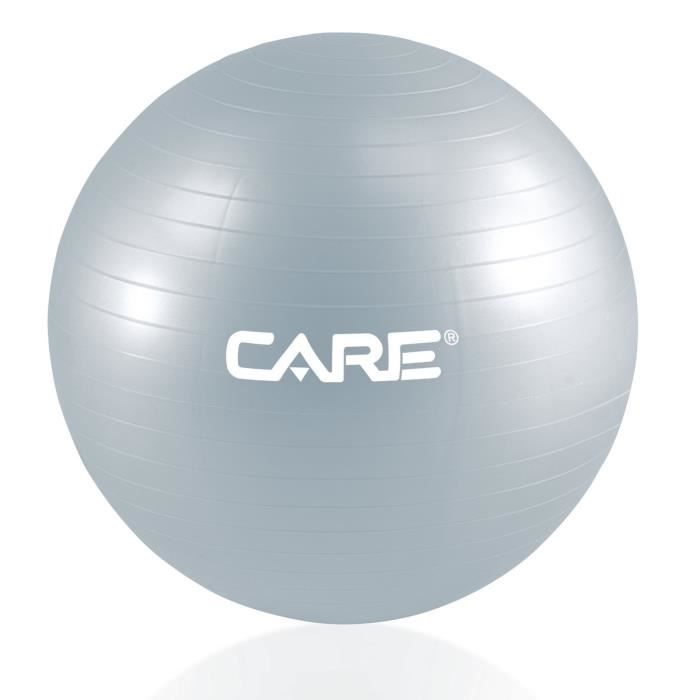 CARE Gym-Ball 55cm Anti-eclatement avec Pompe